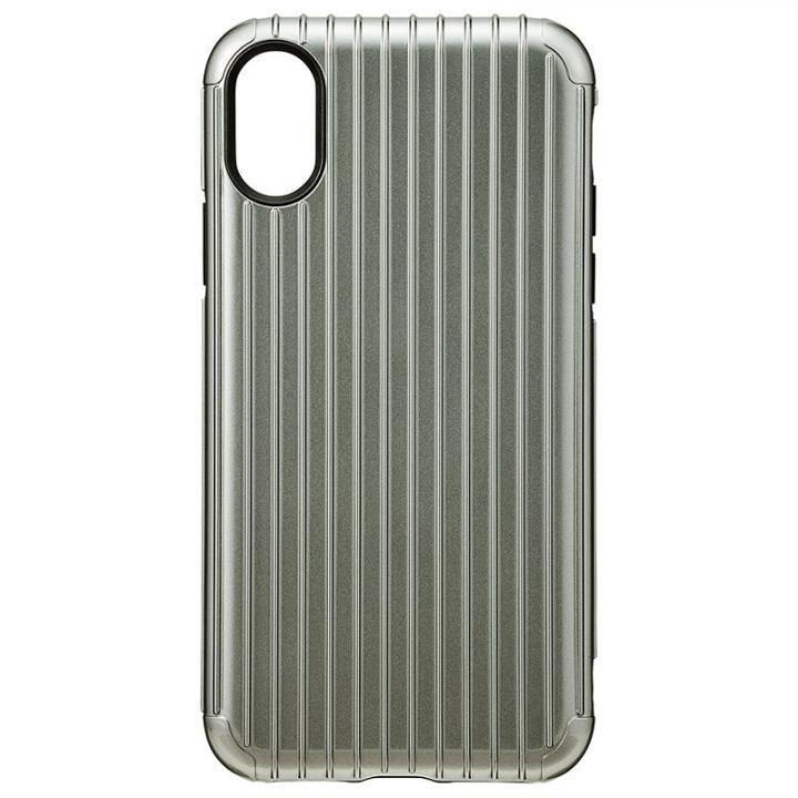 iPhone XS/X ケース GRAMAS COLORS ハイブリッドケース Rib グレイ iPhone XS/X_0