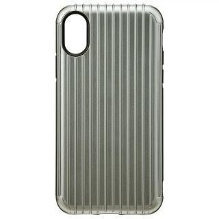 GRAMAS COLORS ハイブリッドケース Rib グレイ iPhone XS/X