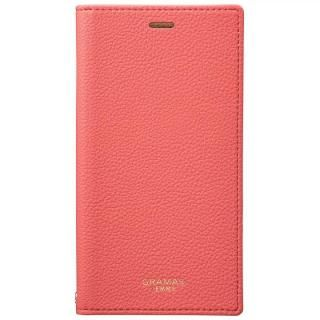 GRAMAS FEMME シュリンク調PUレザー手帳型ケース Colo ピンク