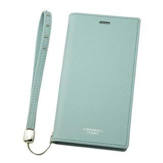 【iPhone XS/Xケース】GRAMAS FEMME シュリンク調PUレザー手帳型ケース Colo ライトブルー iPhone XS/X_4