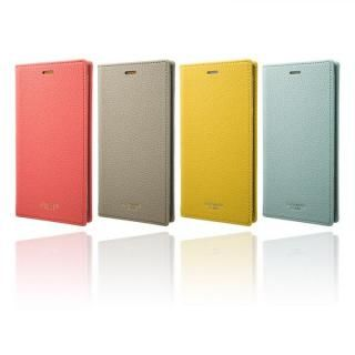 【iPhone XS/Xケース】GRAMAS FEMME シュリンク調PUレザー手帳型ケース Colo ライトブルー iPhone XS/X_7