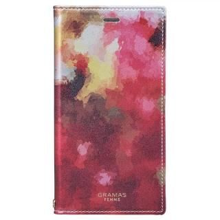 GRAMAS FEMME Gra PUレザー手帳型ケース Fio:花 iPhone X