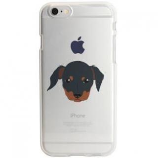 iPhone6s ケース アップルマークデザイン TPUクリアケース ダックスフント iPhone 6s