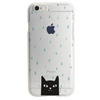 アップルマークデザイン TPUクリアケース  雨の日 iPhone 6s