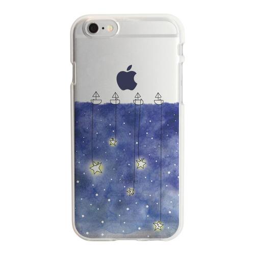 アップルマークデザイン TPUクリアケース  星取り iPhone 6s