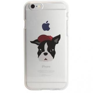 アップルマークデザイン TPUクリアケース フレンチ・ブルドッグ iPhone 6s