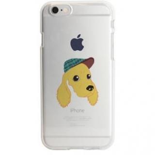 iPhone6s ケース アップルマークデザイン TPUクリアケース コッカー・スパニエル iPhone 6s