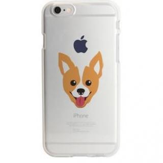 iPhone6s ケース アップルマークデザイン TPUクリアケース ウェルシュ・コーギー iPhone 6s
