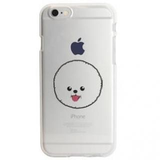アップルマークデザイン TPUクリアケース ビション・フリーゼ iPhone 6s