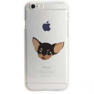 iPhone6s ケース アップルマークデザイン TPUクリアケース チワワ iPhone 6s