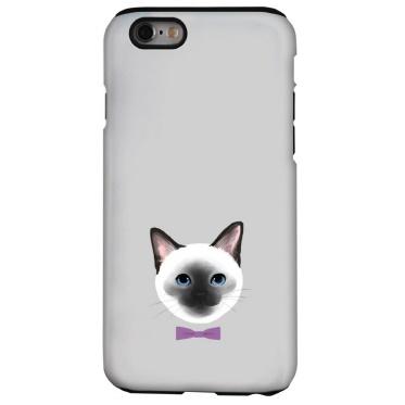 iPhone6s ケース 猫デザインハードケース シャム iPhone 6s_0