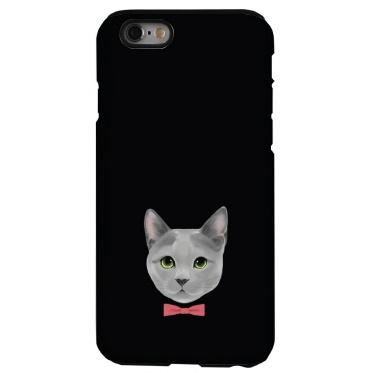 猫デザインハードケース ロシアンブルー iPhone 6s