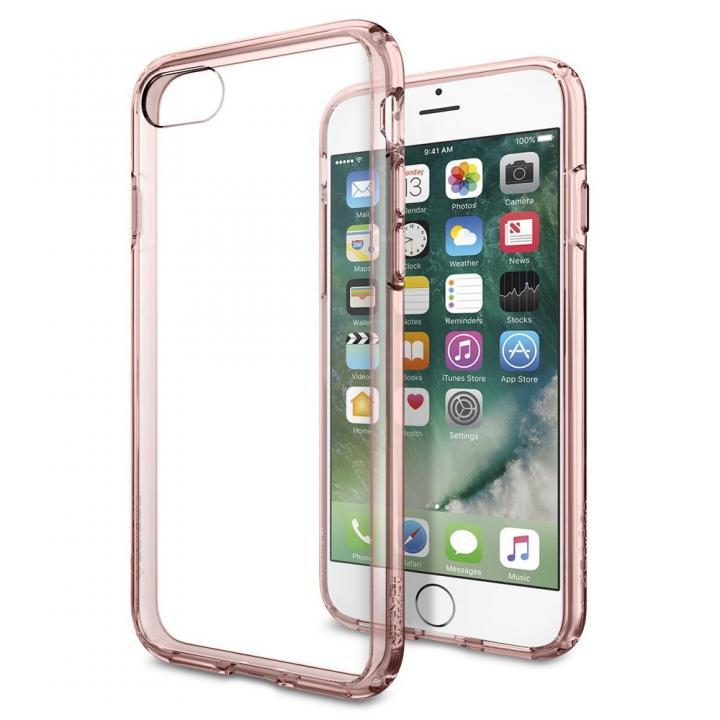 【iPhone7ケース】Spigen ウルトラハイブリットケース ローズクリスタル iPhone 7_0