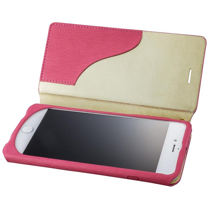 【iPhone8 Plus/7 Plusケース】GRAMAS FEMME PUレザー手帳型ケース Colo ピンク iPhone 8 Plus/7 Plus_0