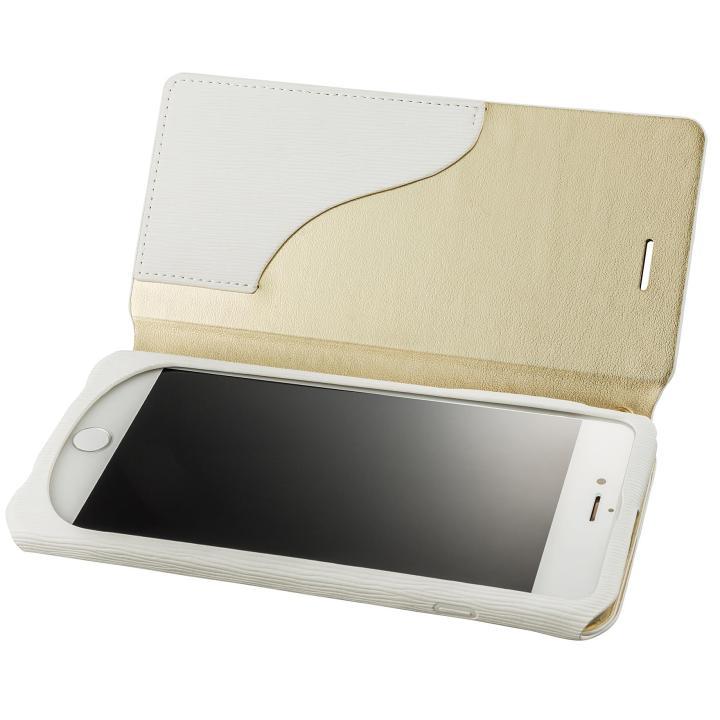 【iPhone8 Plus/7 Plusケース】GRAMAS FEMME PUレザー手帳型ケース Colo ホワイト iPhone 8 Plus/7 Plus_0