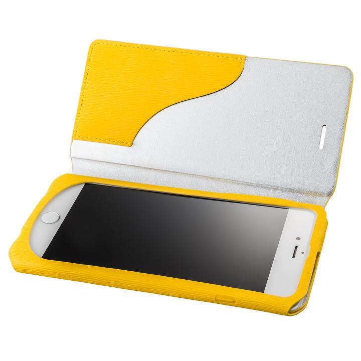GRAMAS FEMME PUレザー手帳型ケース Colo イエロー iPhone 7 Plus