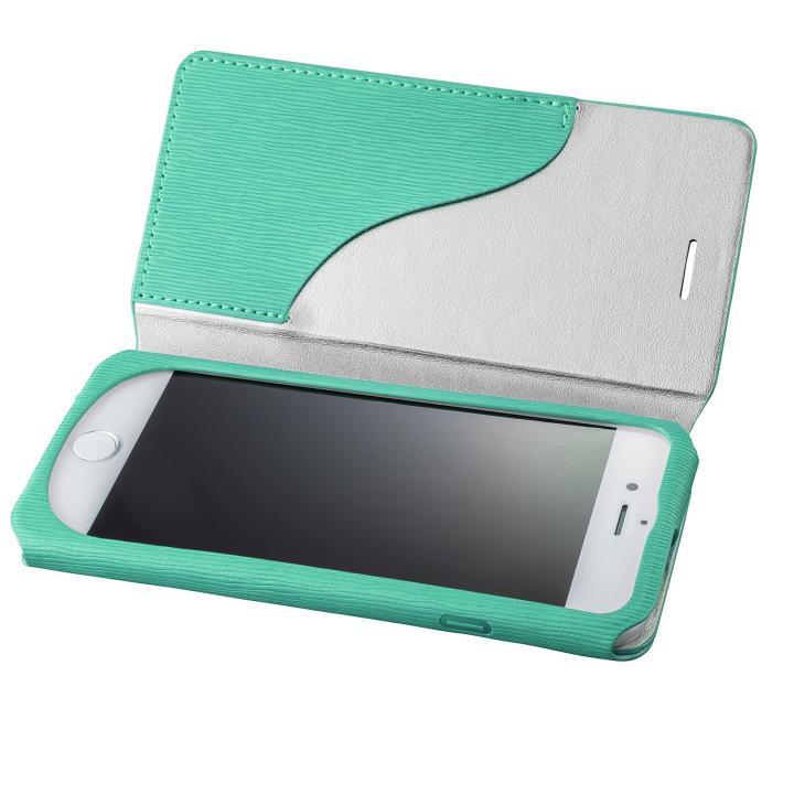 iPhone8/7 ケース GRAMAS FEMME PUレザー手帳型ケース Colo ターコイズ iPhone 8/7_0