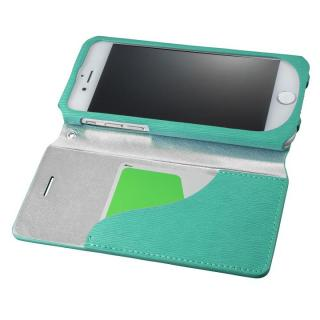 【iPhone8/7ケース】GRAMAS FEMME PUレザー手帳型ケース Colo ターコイズ iPhone 8/7_1