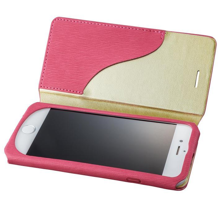 iPhone8/7 ケース GRAMAS FEMME PUレザー手帳型ケース Colo ピンク iPhone 8/7_0