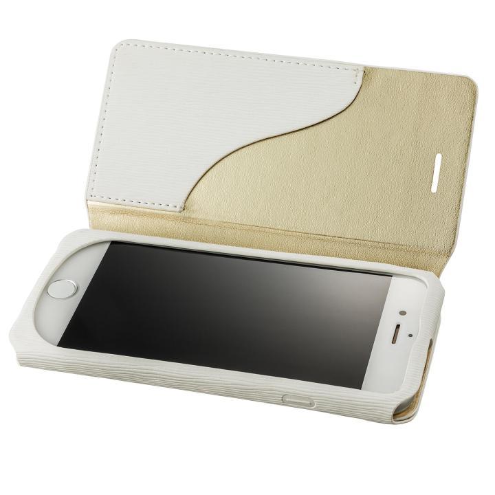 GRAMAS FEMME PUレザー手帳型ケース Colo ホワイト iPhone 7