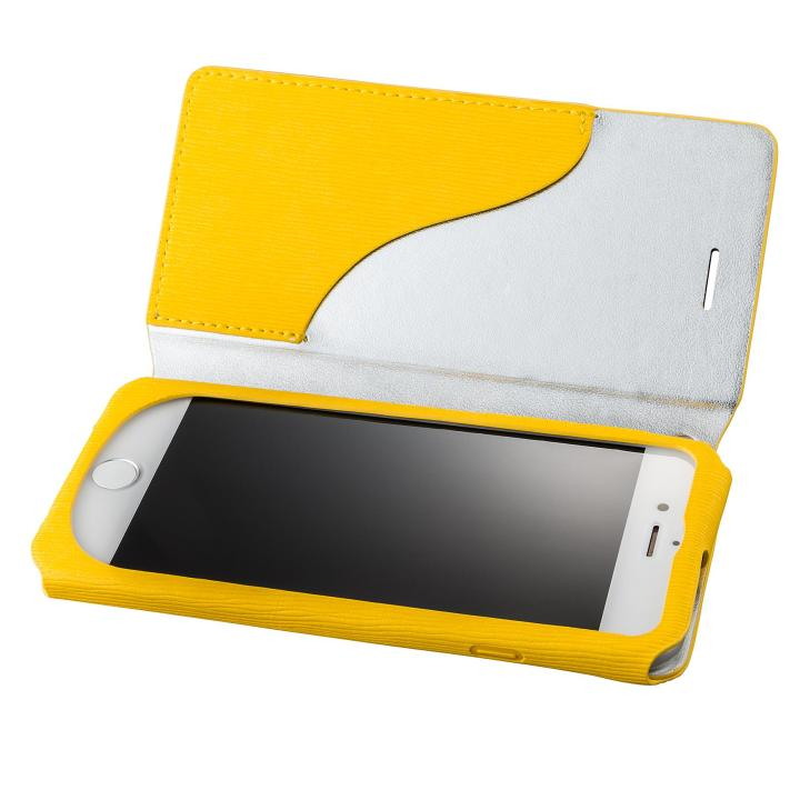 iPhone8/7 ケース GRAMAS FEMME PUレザー手帳型ケース Colo イエロー iPhone 8/7_0