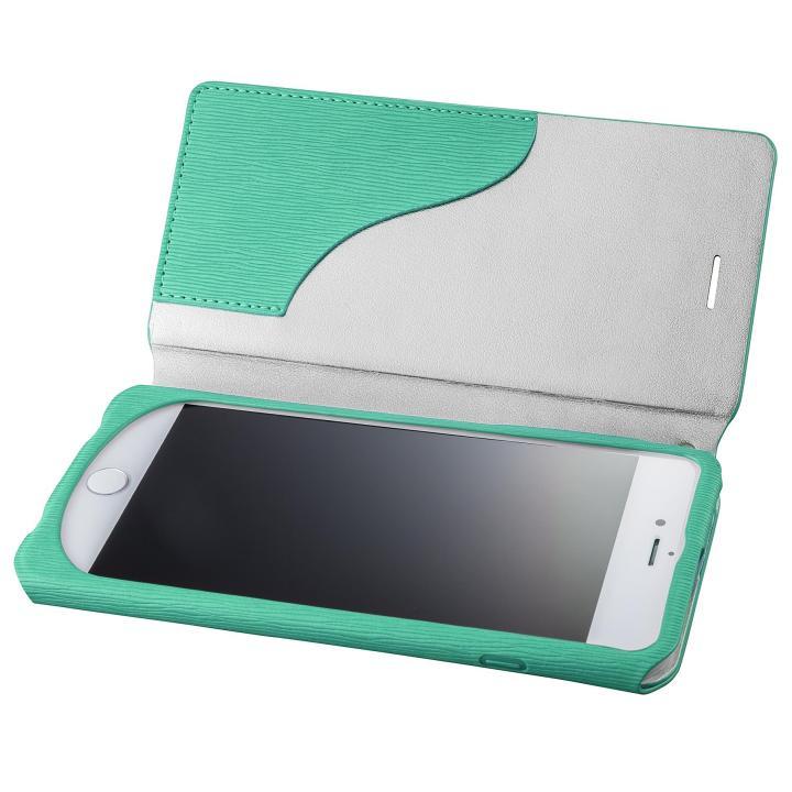 【iPhone8 Plus/7 Plusケース】GRAMAS FEMME PUレザー手帳型ケース Colo ターコイズ iPhone 8 Plus/7 Plus_0