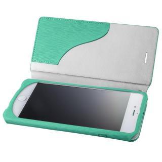 GRAMAS FEMME PUレザー手帳型ケース Colo ターコイズ iPhone 8 Plus/7 Plus