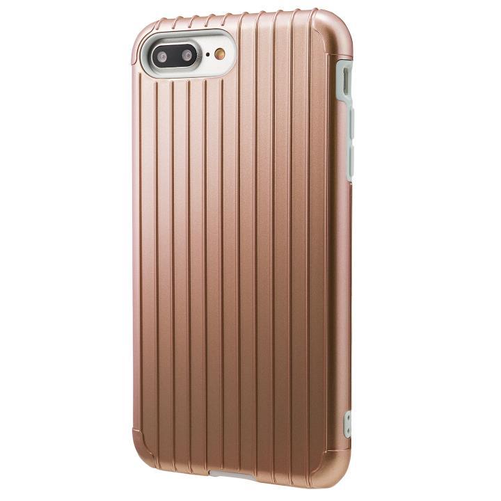 GRAMAS COLORS Rib ハイブリッドケース ローズゴールド iPhone 8 Plus/7 Plus