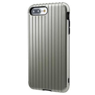 GRAMAS COLORS Rib ハイブリッドケース グレイ iPhone 8 Plus/7 Plus