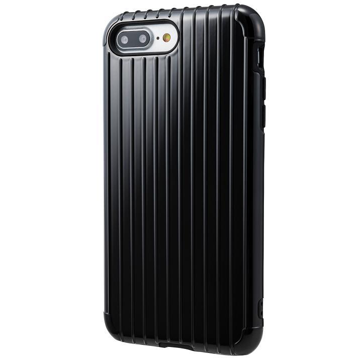 iPhone8 Plus/7 Plus ケース GRAMAS COLORS Rib ハイブリッドケース ブラック iPhone 8 Plus/7 Plus【6月下旬】_0