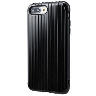 【iPhone8 Plus/7 Plusケース】GRAMAS COLORS Rib ハイブリッドケース ブラック iPhone 8 Plus/7 Plus