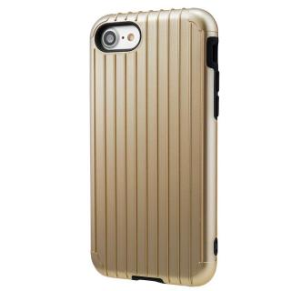 GRAMAS COLORS Rib ハイブリッドケース ゴールド iPhone 7