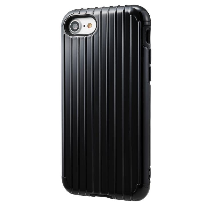 iPhone8/7 ケース GRAMAS COLORS Rib ハイブリッドケース ブラック iPhone SE 第2世代/8/7_0