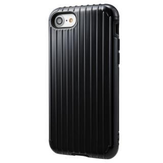 【iPhone8 ケース】GRAMAS COLORS Rib ハイブリッドケース ブラック iPhone 8/7