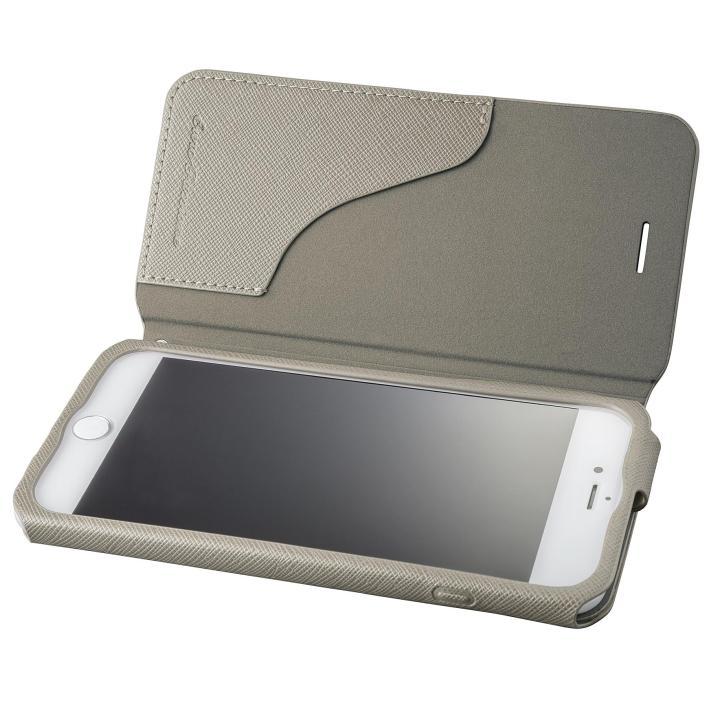 【iPhone8 Plus/7 Plusケース】GRAMAS COLORS PUレザー手帳型ケース EURO Passione グレイ iPhone 8 Plus/7 Plus_0