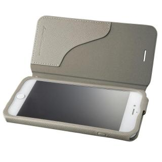 GRAMAS COLORS PUレザー手帳型ケース EURO Passione グレイ iPhone 8 Plus/7 Plus
