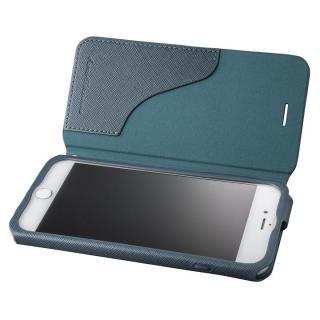 GRAMAS COLORS PUレザー手帳型ケース EURO Passione ネイビー iPhone 7 Plus