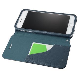 【iPhone8 Plus/7 Plusケース】GRAMAS COLORS PUレザー手帳型ケース EURO Passione ネイビー iPhone 8 Plus/7 Plus_1