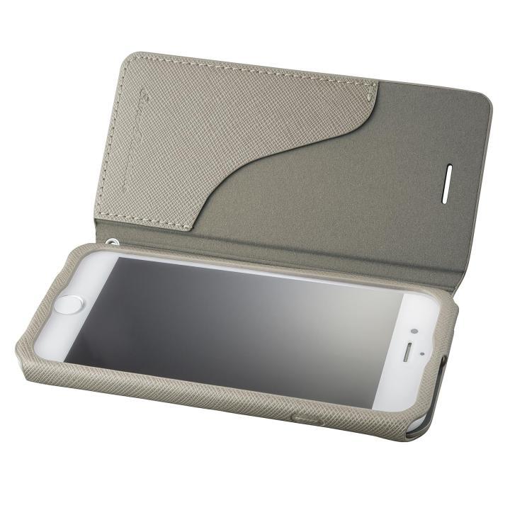 iPhone8/7 ケース GRAMAS COLORS PUレザー手帳型ケース EURO Passione グレイ iPhone 8/7_0