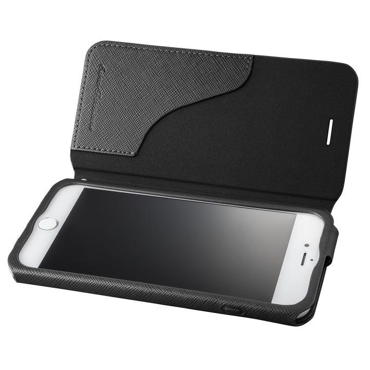 GRAMAS COLORS PUレザー手帳型ケース EURO Passione ブラック iPhone 8 Plus/7 Plus