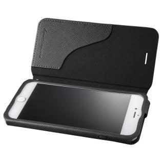 GRAMAS COLORS PUレザー手帳型ケース EURO Passione ブラック iPhone 7 Plus