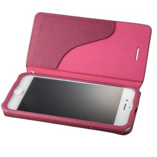 GRAMAS COLORS PUレザー手帳型ケース EURO Passione レッド iPhone 8/7