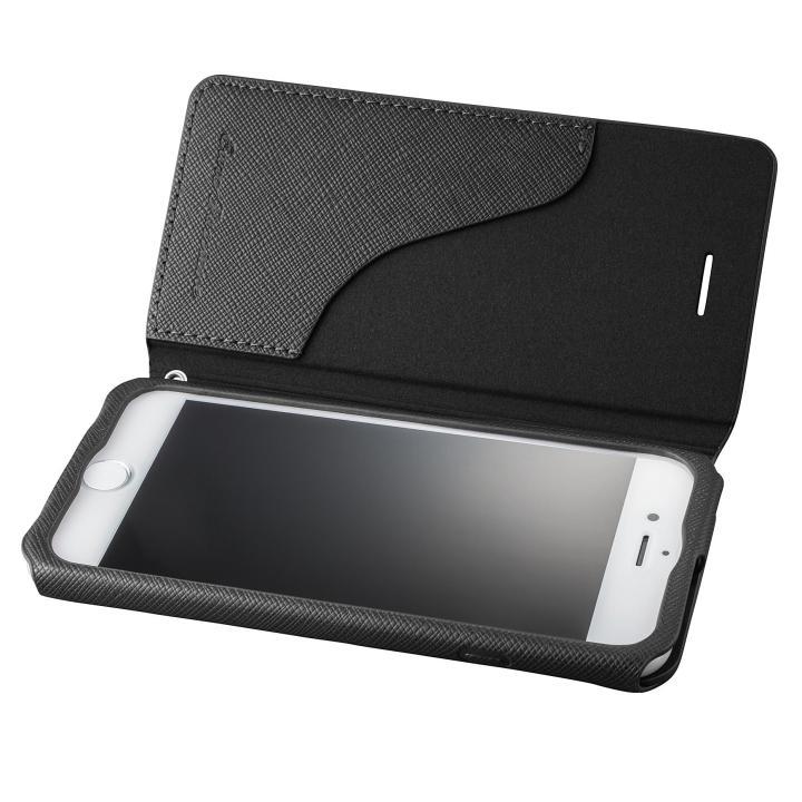iPhone8/7 ケース GRAMAS COLORS PUレザー手帳型ケース EURO Passione ブラック iPhone 8/7_0