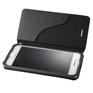GRAMAS COLORS PUレザー手帳型ケース EURO Passione ブラック iPhone 8/7