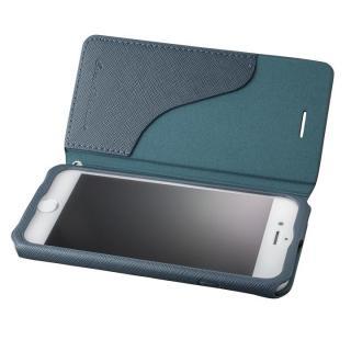GRAMAS COLORS PUレザー手帳型ケース EURO Passione ネイビー iPhone 8/7