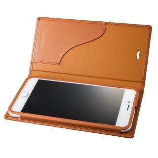 GRAMAS フルレザー手帳型ケース  タン iPhone 7 Plus