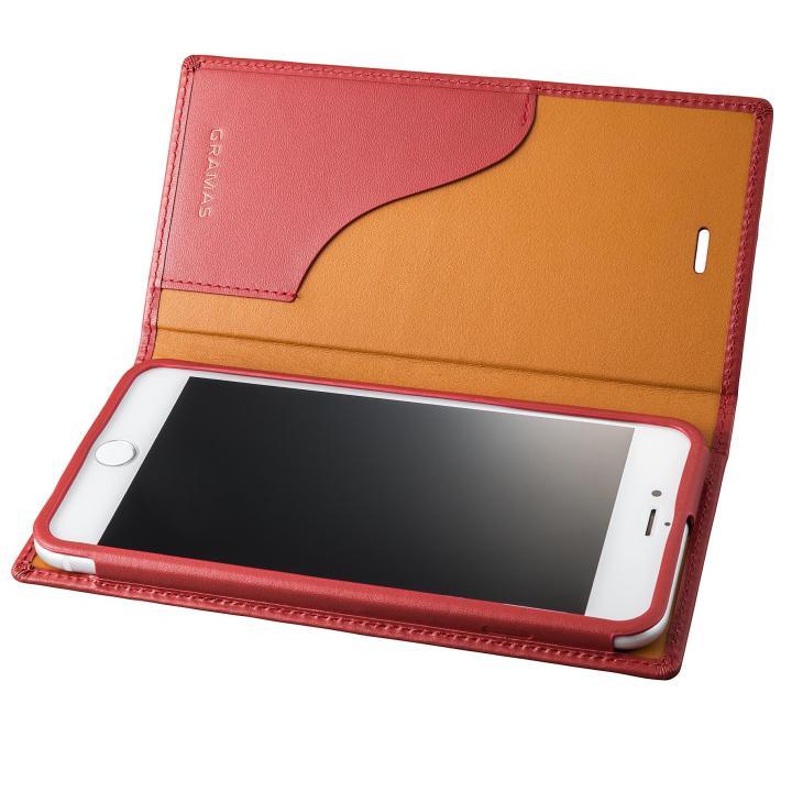 【iPhone8 Plus/7 Plusケース】GRAMAS フルレザー手帳型ケース  レッド iPhone 8 Plus/7 Plus_0