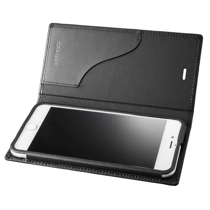 iPhone8 Plus/7 Plus ケース GRAMAS フルレザー手帳型ケース  ブラック iPhone 8 Plus/7 Plus_0