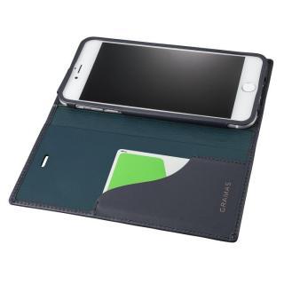 【iPhone8 Plus/7 Plusケース】GRAMAS フルレザー手帳型ケース  ネイビー iPhone 8 Plus/7 Plus_1