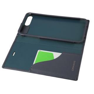 【iPhone8 Plus/7 Plusケース】GRAMAS フルレザー手帳型ケース  ネイビー iPhone 8 Plus/7 Plus_2